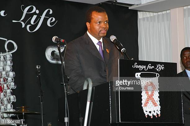 His Majesty King Mswati III during Release of Songs of Life A Benefit Album to Raise Funds to Fight HIV/AIDS in Africa at United Nations Building...