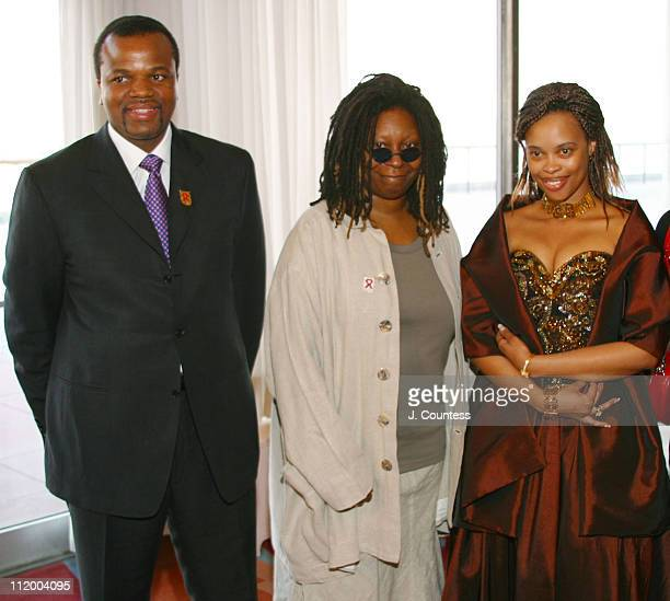 His Majesty King Mswati III Whoopi Goldberg and Her Royal Highness Queen LaMbikiza