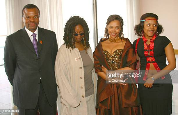 His Majesty King Mswati III Whoopi Goldberg Her Royal Highness Queen LaMbikiza and guest