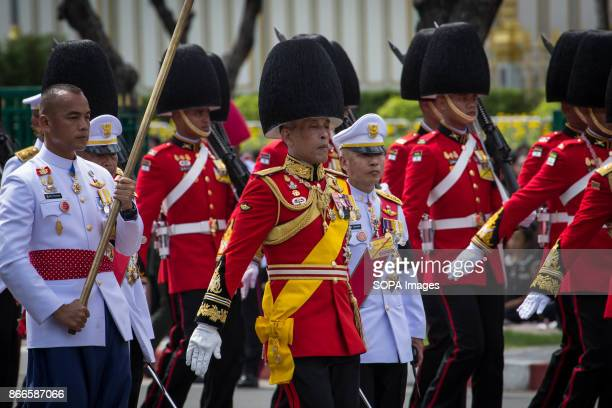 His Majesty Maha Vajiralongkorn is seen during the funeral ceremony of his father the late Thailand's King Bhumibol Adulyadej Thailands Late King...