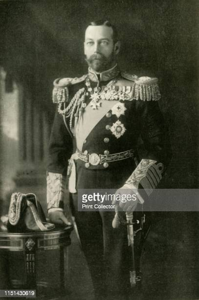 His Majesty The King' circa 1900 Portrait of George V King of Great Britain in military uniform From The History of the Great European War its causes...