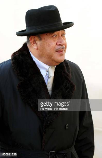 His Majesty The King of Tonga, King Taufa'ahau Tupou V, during a tour of the National Memorial Arboretum in Alrewas.