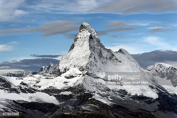 his majesty the matterhorn - mountain peak stock pictures, royalty-free photos & images
