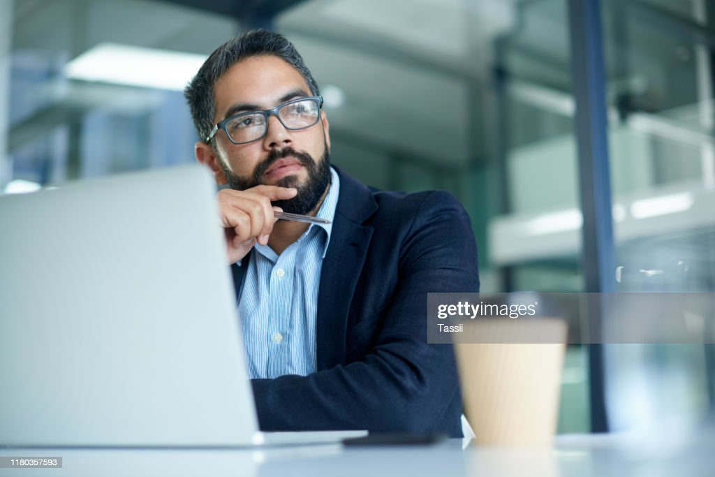 His mind always wanders to success : Stock Photo