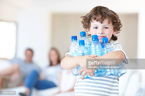 His parents stress the importance of recycling