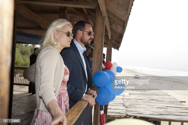 His Royal Highness Crown Prince Haakon And Her Royal Highness Crown Princess MetteMarit Visit Project Site For Female Police Driving Training For The...