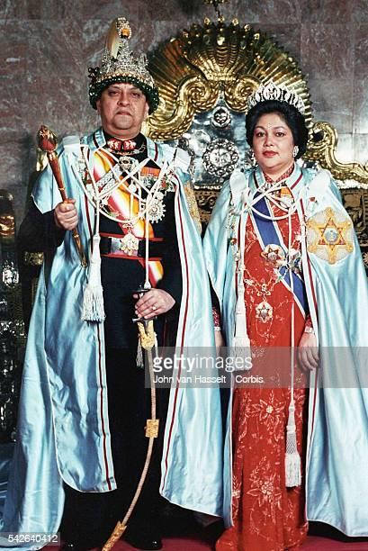 His Royal Highness, King Gyanendra of Nepal and Princess Purnika .