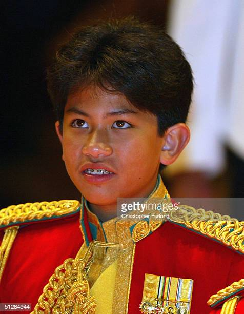 His Royal Highness Prince Abdul Mateen the youngest child of The Sultan watches the firework extravaganza at the Majlis Istiadat Persantapan...