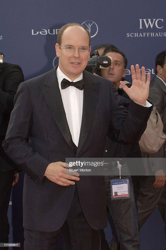 His Royal Highness Prince Albert of Monaco during 2006 Laureus World Sports Awards - Red Carpet - Arrivals at Museu Nacional d'Art de Catalunya in Barcelona, Spain.