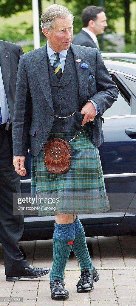Prince Charles Visits Scottish Academy of Music and Drama : News Photo