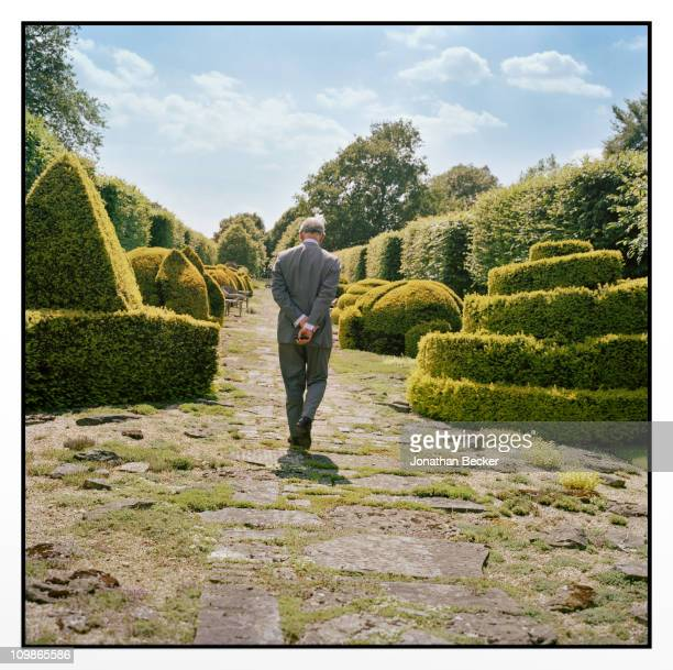 His Royal Highness Prince Charles is photographed at Highgrove for Vanity Fair Magazine on June 21 2010 in Gloucestershire England Published image...