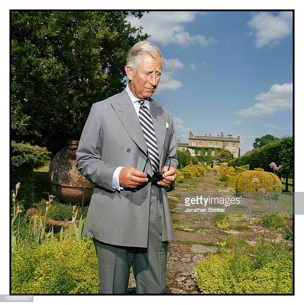 His Royal Highness Prince Charles is photographed at Highgrove for Vanity Fair Magazine on June 21 2010 in Gloucestershire England Published image