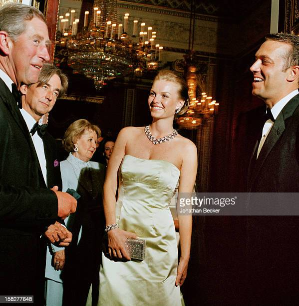 His Royal Highness Prince Charles Robert Higdon director of the Prince of Wales Foundation and Alara Uzan are photographed for Vanity Fair Magazine...
