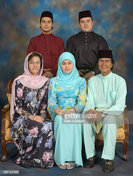 His Royal Highness Prince Haji AlMuhtadee Billah The Crown Prince Of Brunei Darussalam And Dayangku Sarah Binti Pengiran Salleh Ab Rahaman With Her...