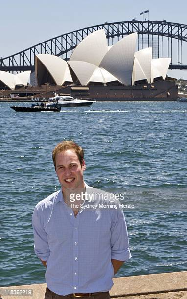His Royal Highness Prince William at the Fleet Steps at Farm Cove