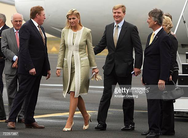 His Royal Highness The Prince of Orange and Her Royal Highness Princess Maxima of The Netherlands arrive at Hobart Airport on the third day of their...