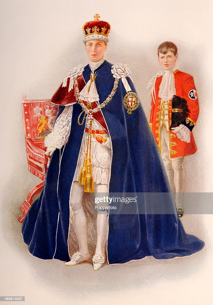The Prince Of Wales During The Coronation Of King George V And Queen Mary : News Photo
