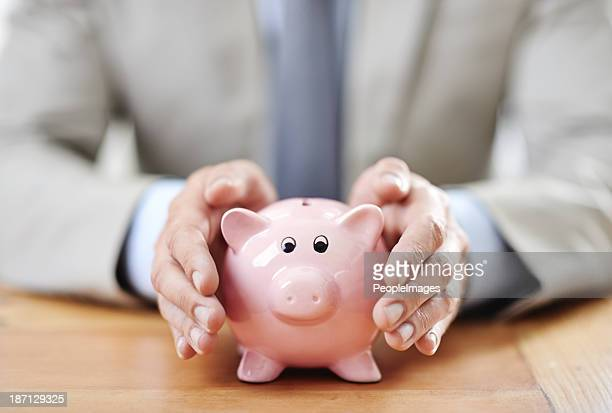 his savings are secure - protection stock pictures, royalty-free photos & images