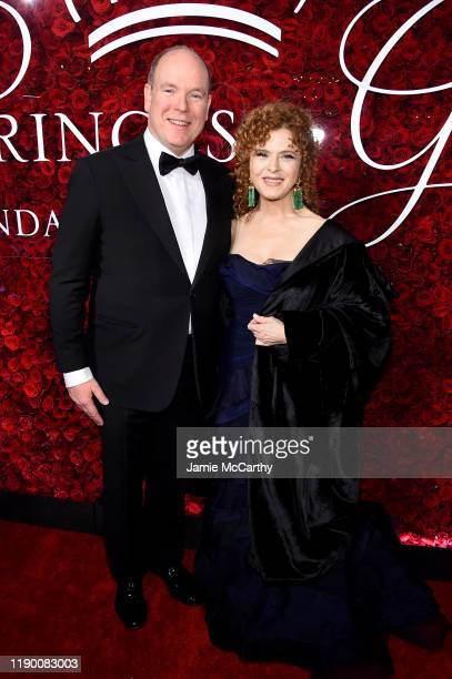 His Serene Highness Prince Albert II of Monaco and Bernadette Peters attend the 2019 Princess Grace Awards Gala on November 25, 2019 in New York City.