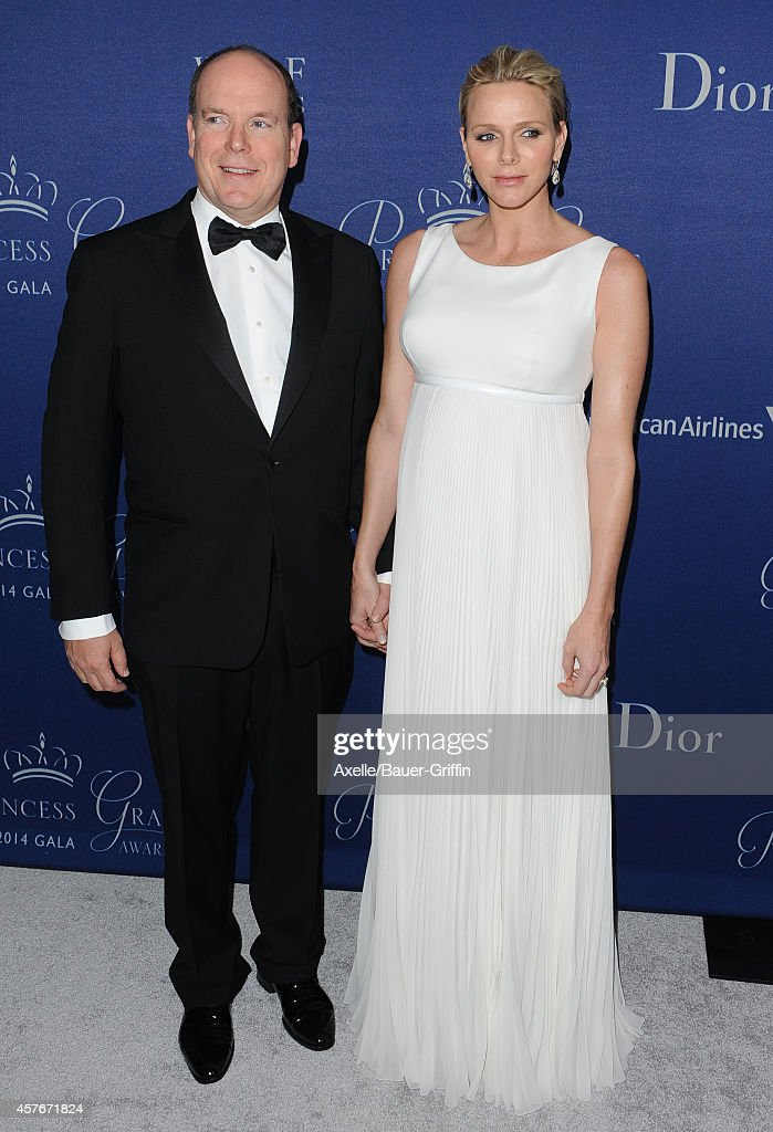 His Serene Highness Prince Albert II of Monaco and Her Serene Highness Princess Charlene of Monaco attend the 2014 Princess Grace Awards Gala at the Beverly Wilshire Four Seasons Hotel on October 8, 2014 in Beverly Hills, California.
