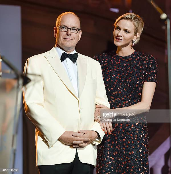 His Serene Highness Prince Albert II of Monaco and Her Serene Highness Princess Charlene of Monaco attend the 2015 Princess Grace Awards Gala With...