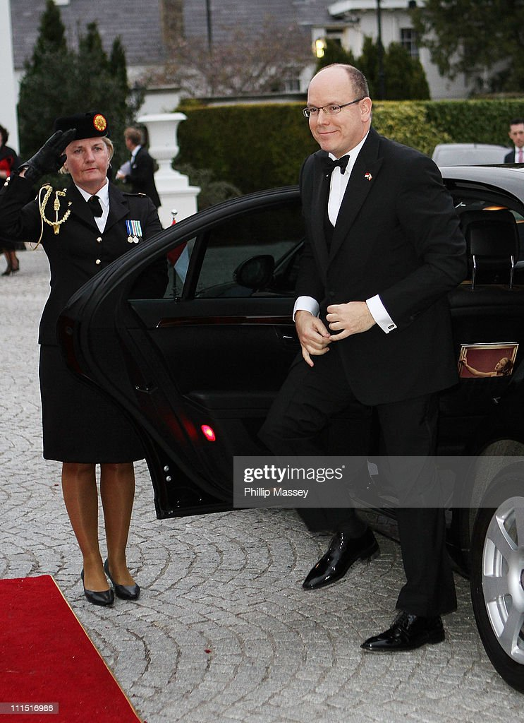 His Serene Highness, Prince Albert II Of Monaco attends a State Dinner at Aras an Uachtarain, the official residence of the President of Ireland during a State visit on April 4, 2011 in Dublin, Ireland.