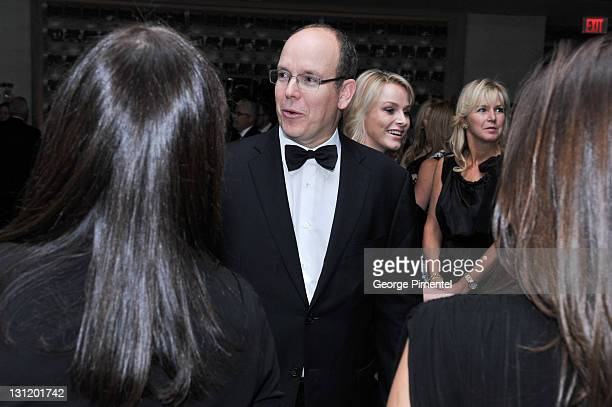His Serene Highness Prince Albert II of Monaco attends the Reception for the Grand Opening of Grace Kelly: From Movie Star to Princess Exhibition at...