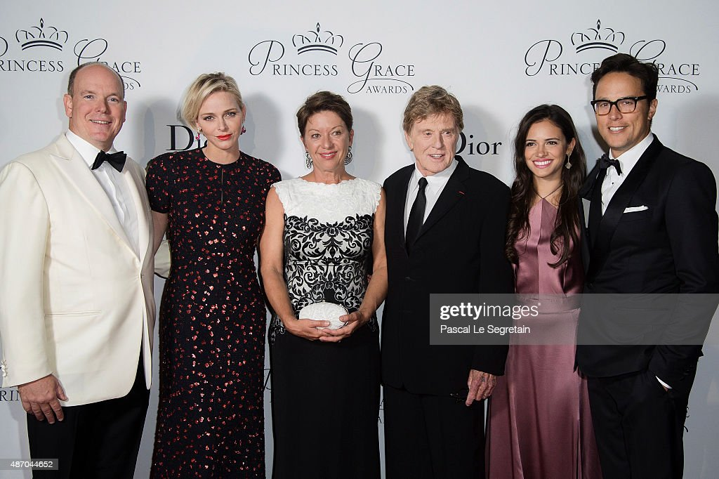 His Serene Highness Prince Albert II of Monaco, Her Serene Highness Princess Charlene of Monaco, 2015 Princess Grace Awards Gala Honorees Sibylle Szaggars Redford and Robert Redford, Daniella Perez Lopez and Cary Fukunaga (Princess Grace Statue Award Recipient) attend the 2015 Princess Grace Awards Gala With Presenting Sponsor Christian Dior Couture at Monaco Palace on September 5, 2015 in Monte-Carlo, Monaco.