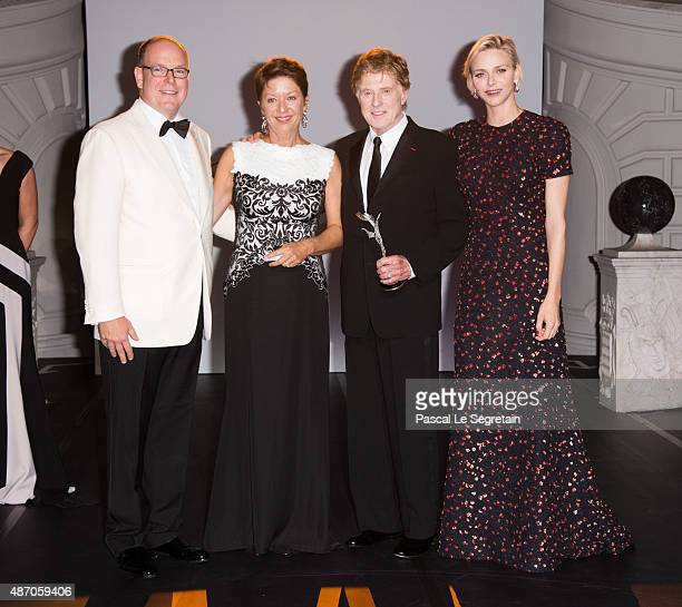 His Serene Highness Prince Albert II of Monaco Sibylle Szaggars Redford Robert Redford and Her Serene Highness Princess Charlene of Monaco attend the...
