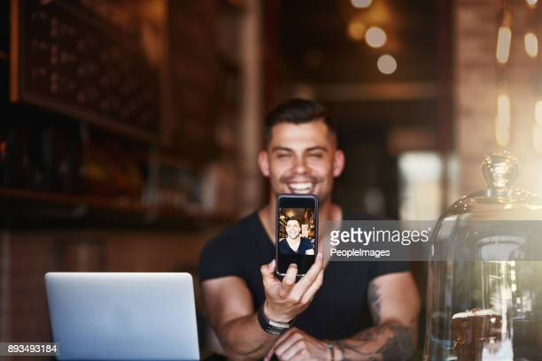 His smile sells a lot of coffee