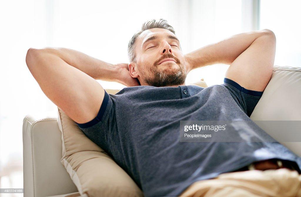 Seine Zeit, um sich zu entspannen. : Stock-Foto