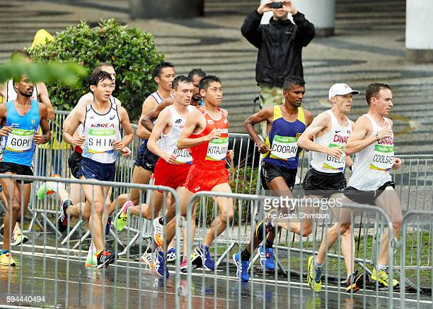 Hisanori Kitajima of Japan competes during the Men's Marathon on Day 16 of the Rio 2016 Olympic Games on August 21 2016 in Rio de Janeiro Brazil