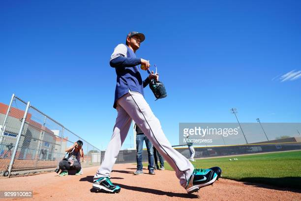Hisashi Iwakuma of the Seattle Mariners is seen during a spring training on March 9 2018 in Peoria Arizona