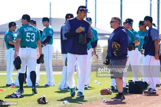 Hisashi Iwakuma of the Seattle Mariners is seen during spring training on March 6 2018 in Peoria Arizona