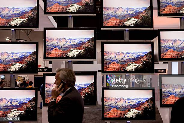 Hisense Electric Co Ltd televisions are displayed during the 2011 International Consumer Electronics Show in Las Vegas Nevada US on Saturday Jan 8...