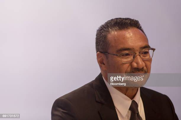 Hishammuddin Hussein Malaysia's defense minister attends the IISS ShangriLa Dialogue Asia Security Summit in Singapore on Saturday June 3 2017...