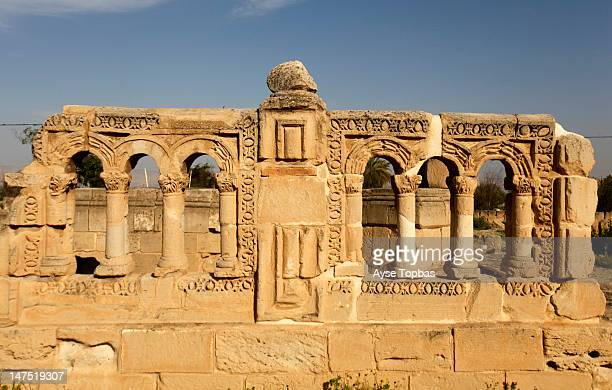 hisham's palace - jericho stock photos and pictures