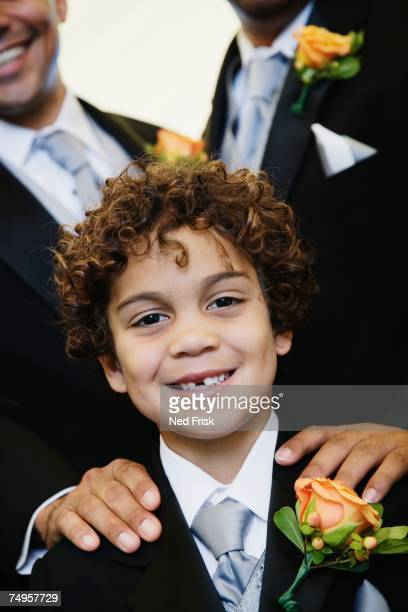 hispanic boy wearing tuxedo - ring bearer stock pictures, royalty-free photos & images
