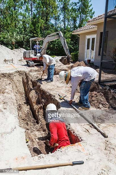 Hispanic Construction Workers on Job Site