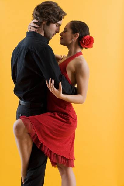 Hispanic couple dancing