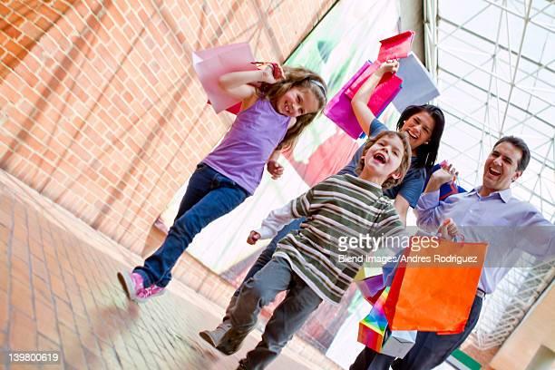 Hispanic family shopping together