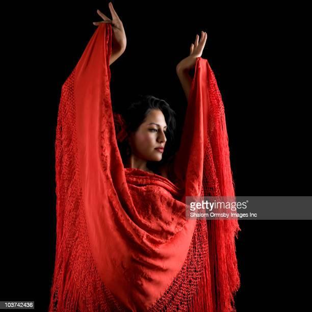 Hispanic flamenco-Tänzerin