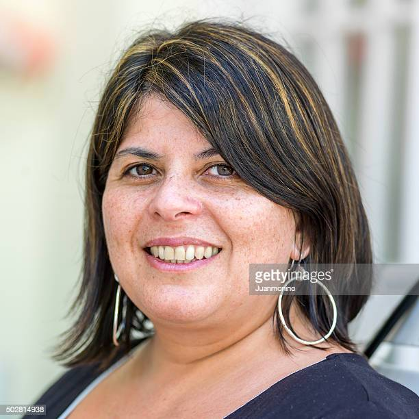 hispanic forty something woman - beautiful puerto rican women stock photos and pictures