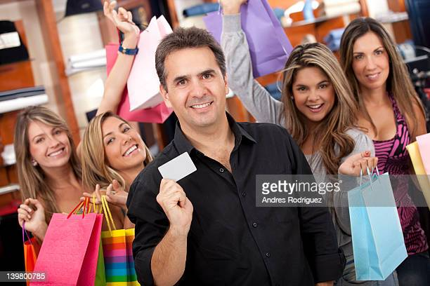 hispanic friends shopping together - may december romance stock photos and pictures