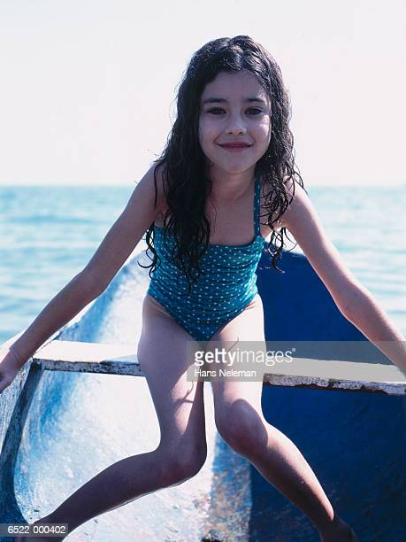 Hispanic Girl in Boat