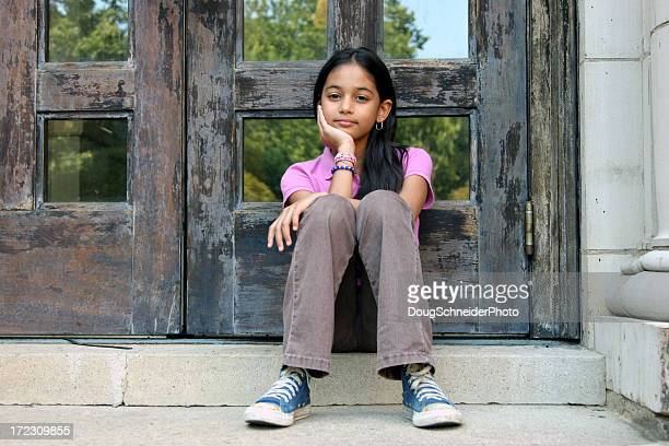 hispanic girl portrait - dominican ethnicity stock photos and pictures