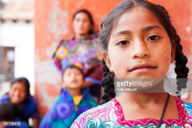 hispanic girl smiling - indigenous culture stock pictures, royalty-free photos & images