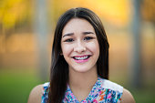 Hispanic happy teenage girl