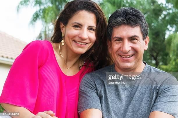hispanic loving mature couple