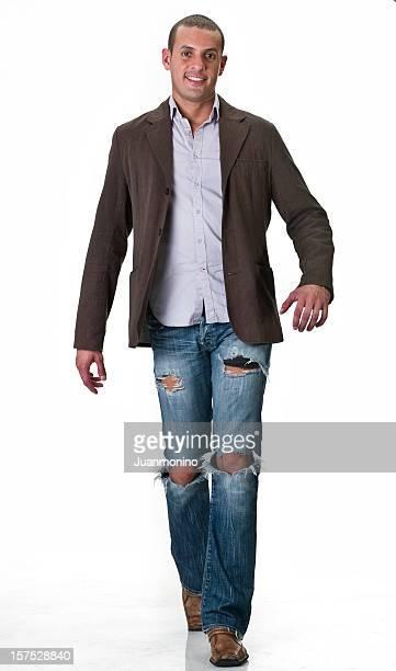 Hispanic male fashion model